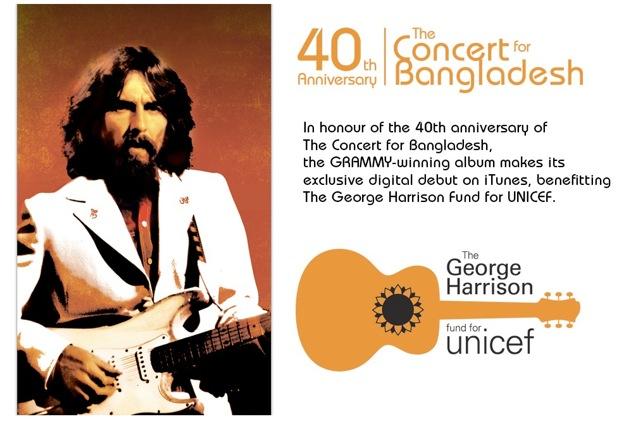 iTunes отмечает 40-летнюю годовщину Концерта для Бангладеш