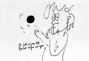 В Лондоне показали неизвестные рисунки Джона Леннона