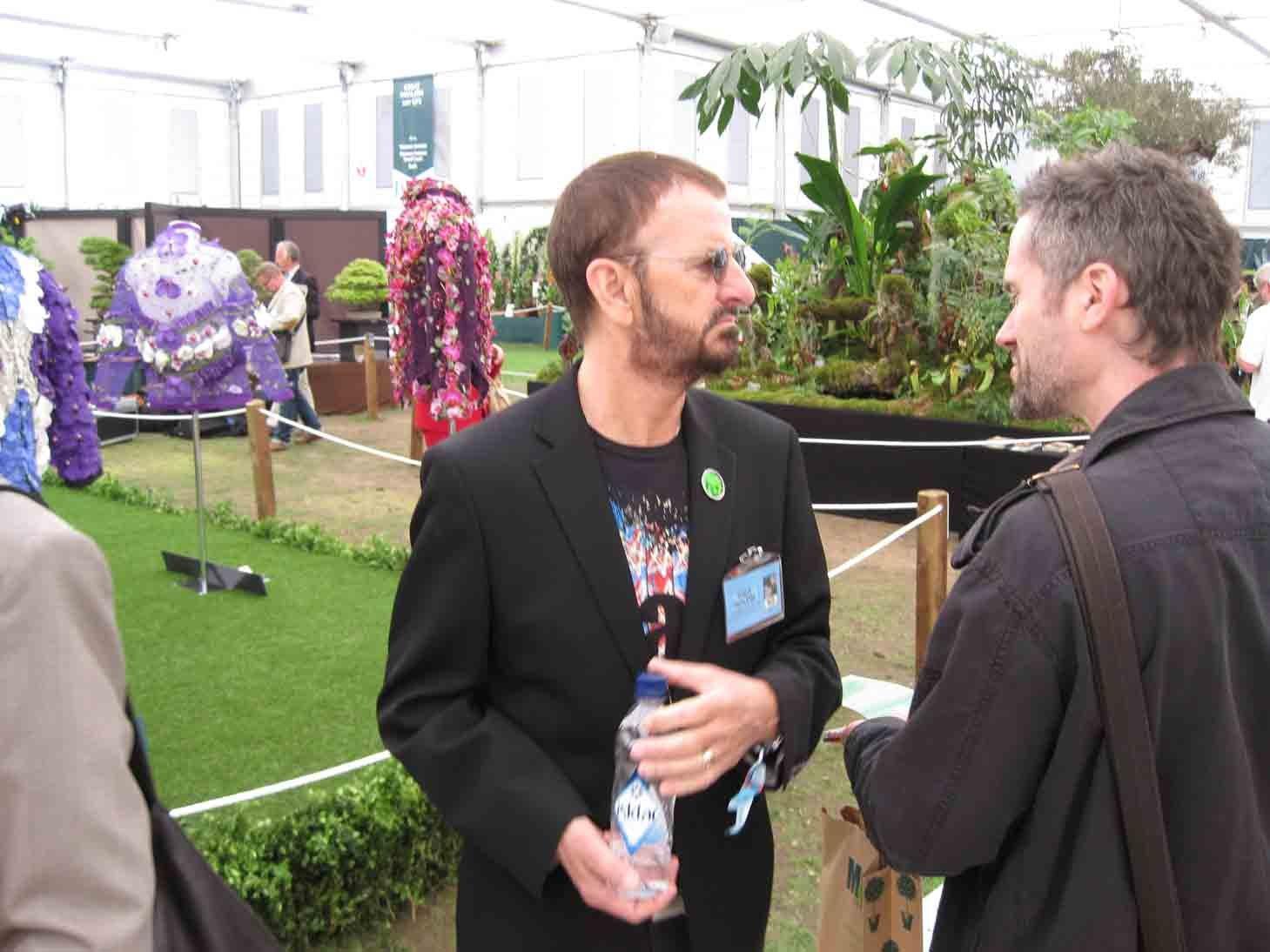 Ринго Старр посетил крупнейшую в мире выставку цветов «Chelsea Flower Show»