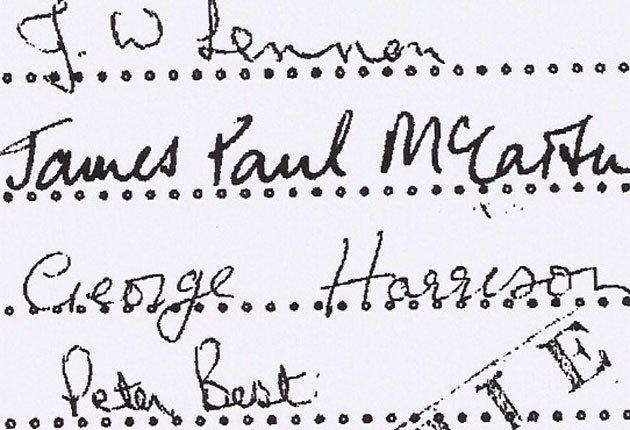 Первый контракт The Beatles уйдет с молотка